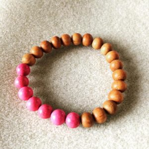 Magnesite and sandalwood power bracelet