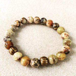 Yellow moss agate power bracelet