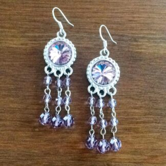 Lavender Rivoli Earrings